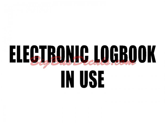 Electronic LogBook on Board truck sticker