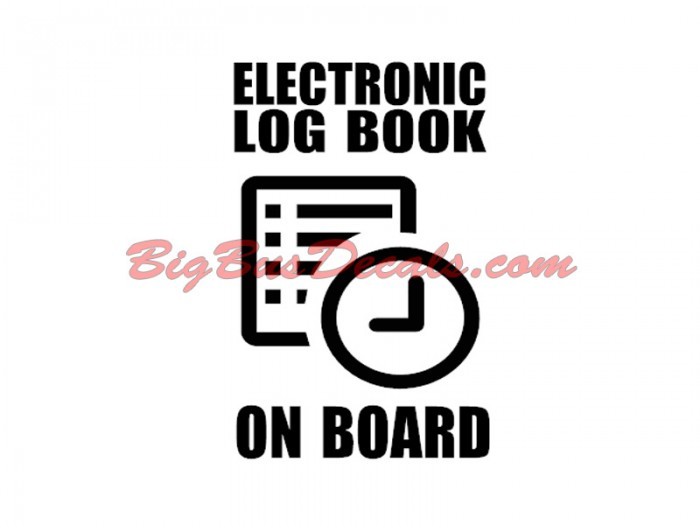 Electronic LogBook on Board (2 pcs) sticker
