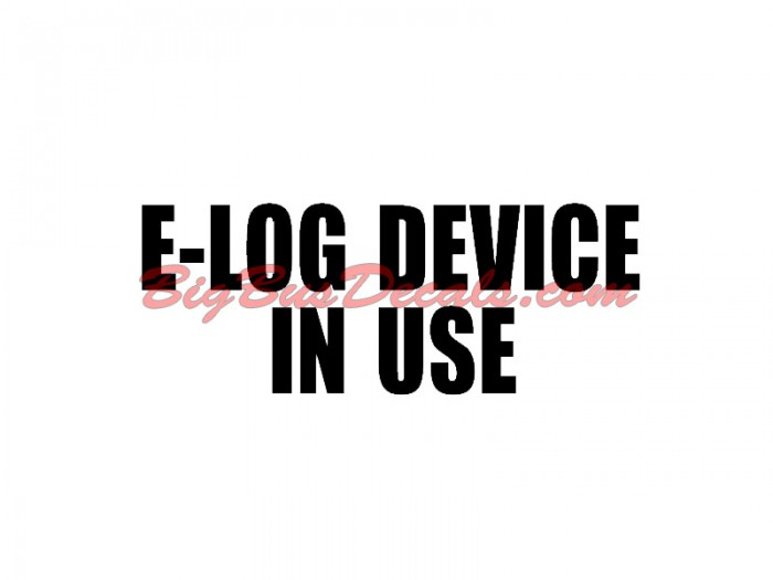 Electronic LogBook sticker