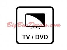 TV/DVD Decals (2 pcs) (C9)