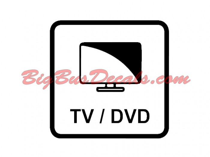 Set of 2 TV/DVD Decals sticker