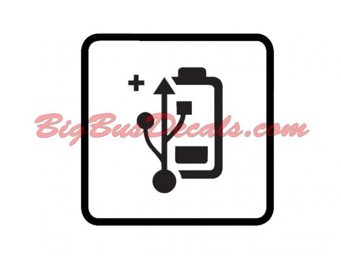 USB battery outlets sticker
