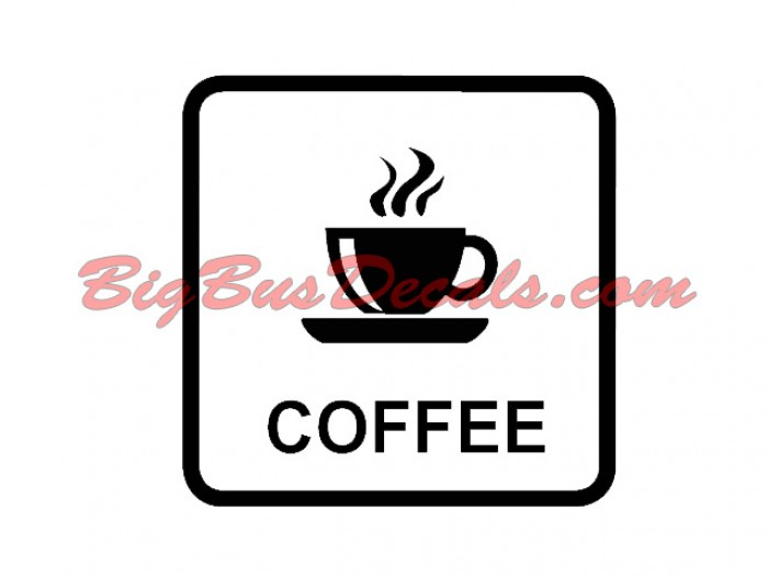 Set of 2 COFFEE Decals sticker