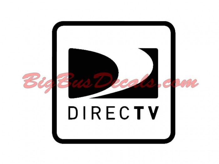 Set of 2 Satellite DIRECT TV Decals sticker