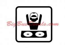 MUSIC / DJs Decals (2 pcs) (C11)