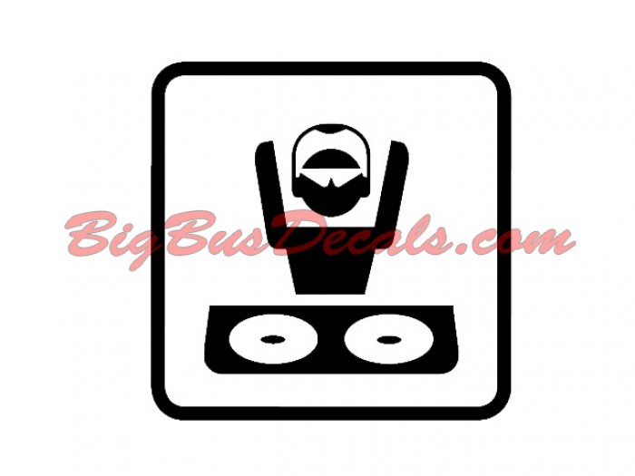 Set of 2 MUSIC / DJ Decals sticker