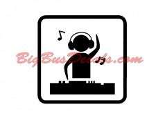MUSIC / DJ Decals (2 pcs) (C10)