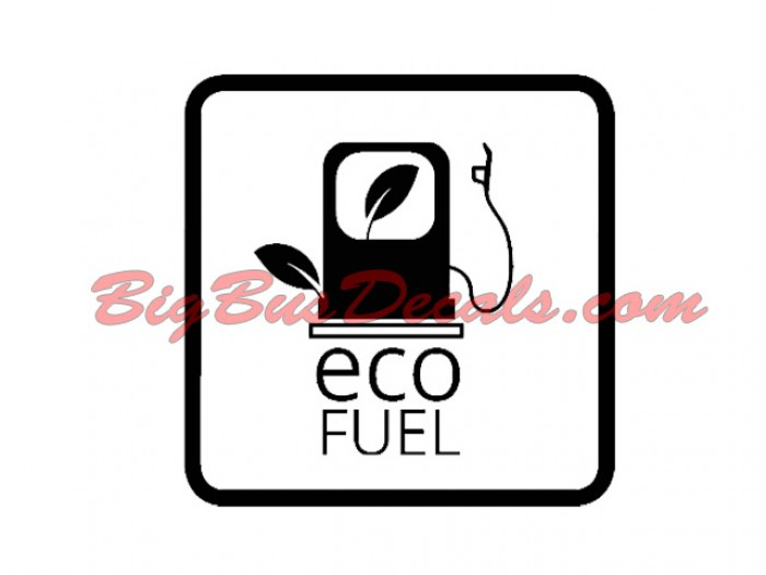 Set of 2 EcoFuel Decals sticker