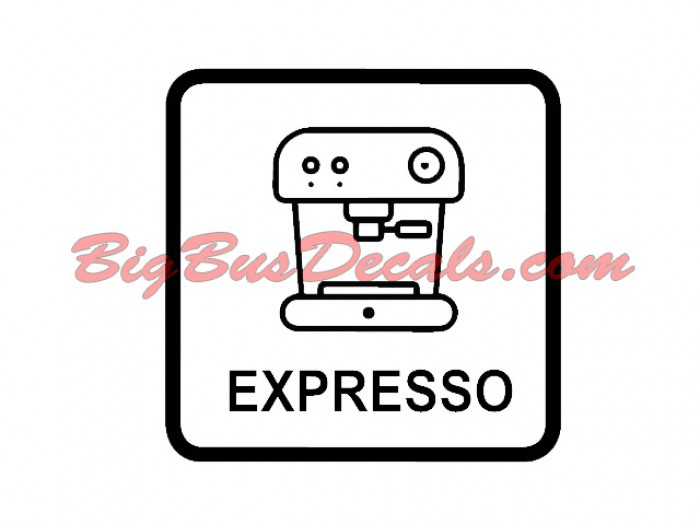 Set of 2 Expresso Decals sticker