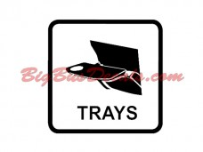 Seat Trays Decals (2 pcs) (E5)
