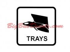 Seat Trays Decals (2 pcs) (E5)