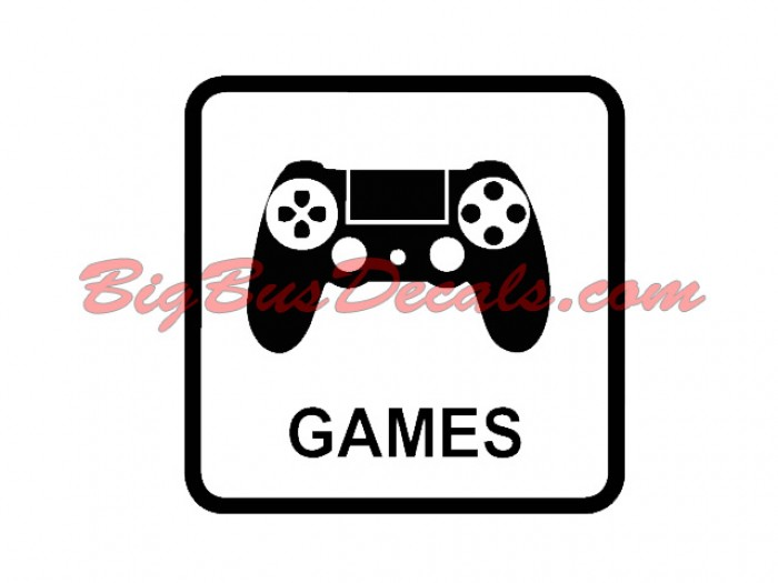 Set of 2 GAMES Decals sticker