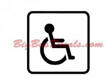 Handicap Access Decals (2 pcs) (F3)