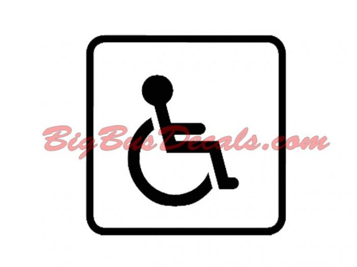 Handicap Access Decals  sticker
