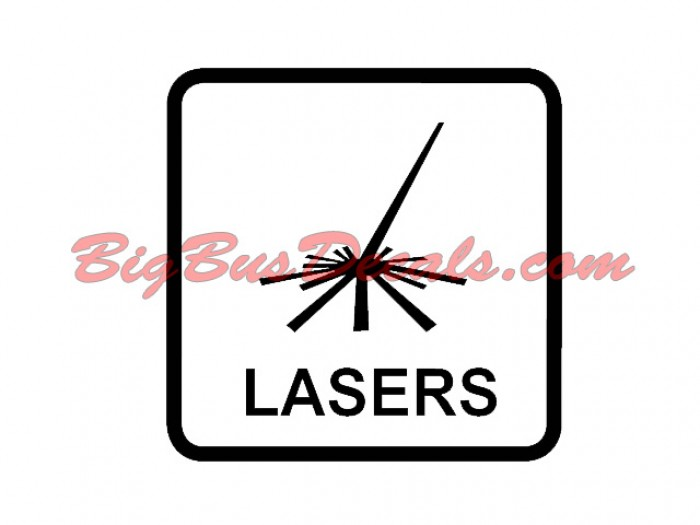 LASERS Decals (2 pcs) (C4)