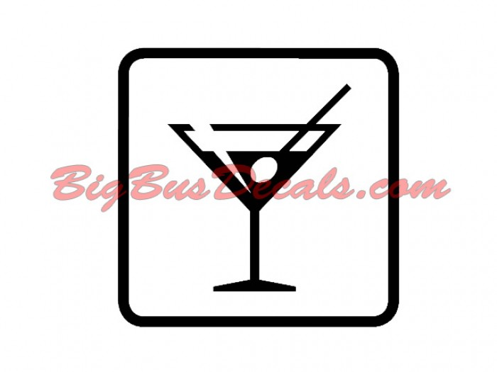 Set of 2 DRINKS / BAR Decals sticker