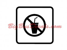 NO DRINKS Decals (2 pcs) (G2)