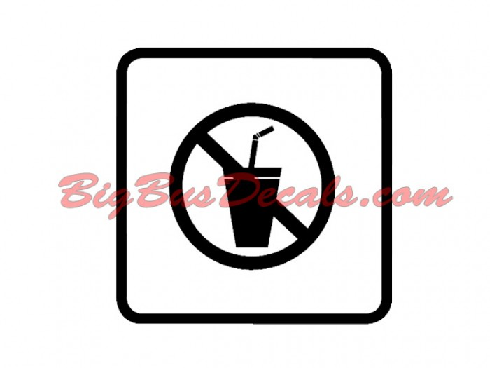 Set of 2 NO DRINKS Decals sticker