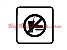 NO FOOD / NO DRINKS Decals (2 pcs) (G1)