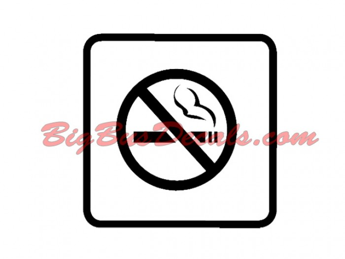 Set of 2 NO SMOKING Decals sticker
