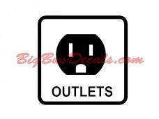 110V Outlet Decals (2 pcs) (B1)