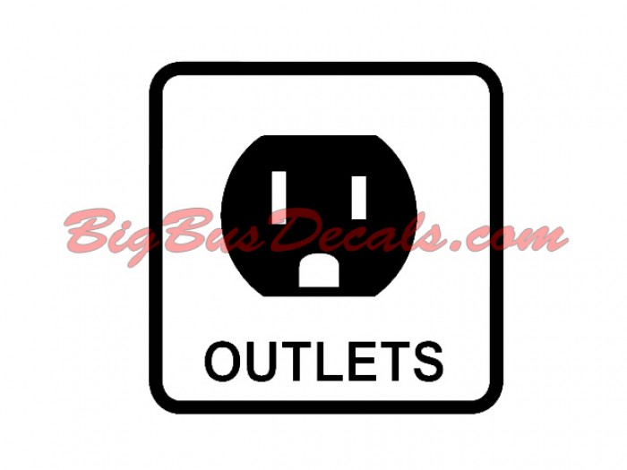 Set of 2 110V Outlet Decals sticker