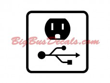 USB + Outlet Decals (2 pcs) (B2)