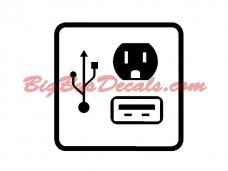 USB + Outlet Decals (2 pcs) (B3)
