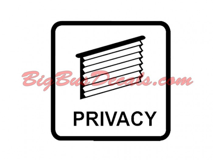Set of 2 Privacy Decals sticker