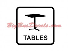 Tables on board Decals (2 pcs) (E6)