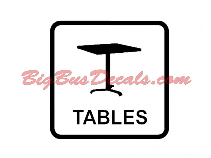 Set of 2 Tables on board Decals sticker