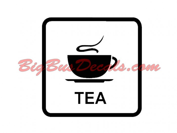 Set of 2 TEA Decals stickers