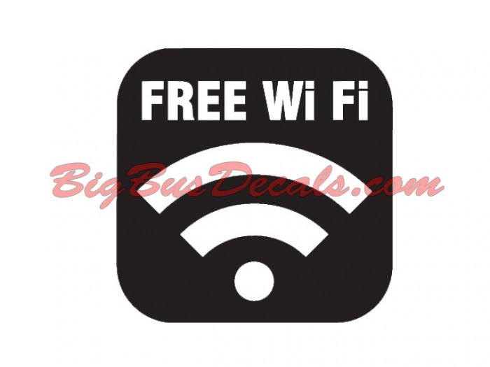 free WIFI Connect sticker