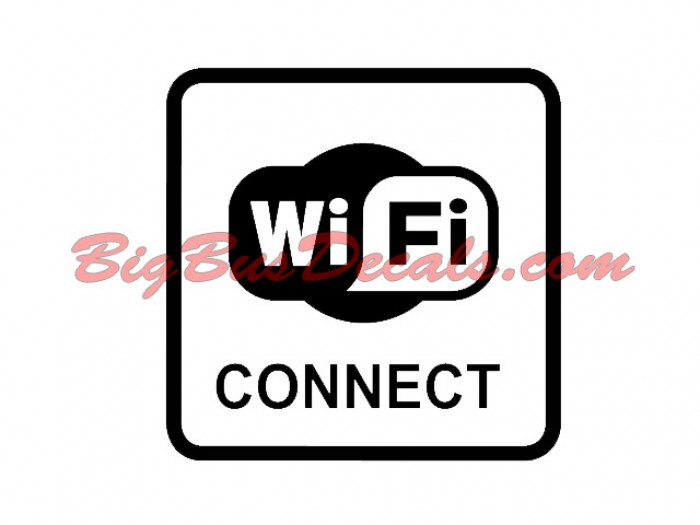 Set of 2 WIFI Connect sticker